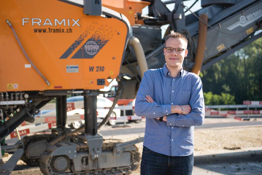 Framix Team Ludovic Piccand Framix Belagsfräsen Rabotage Stabilisation Murten Ins Schweiz